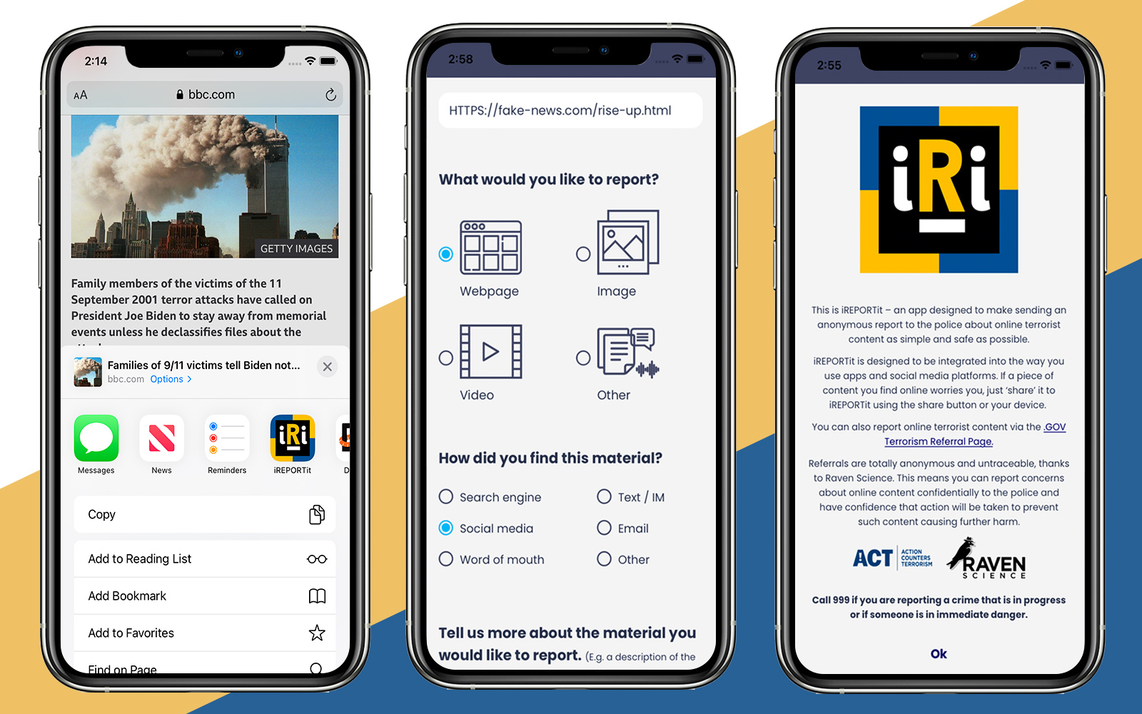 iREPORTit iOS and Android app